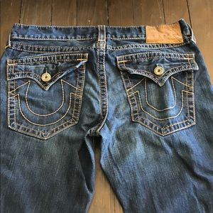 True Religion Billy Big T 36 Waist 34 Seat Jeans